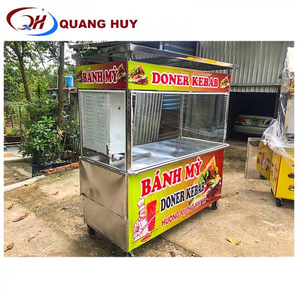 Xe bánh mì thổ nhĩ kỳ Quang Huy có thiết kế tiện dụng
