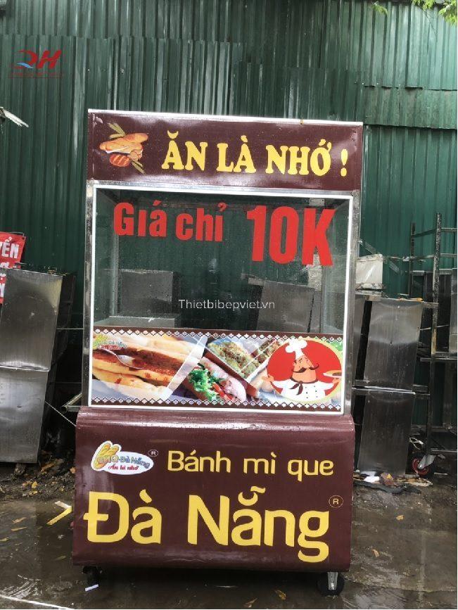 Xe bán bánh mì que Quang Huy 1m