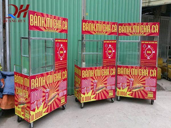 Xe bánh mì chả cá do Quang Huy sản xuất và phân phối