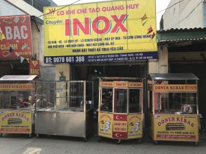 Xe bánh mì thịt nướng Quang Huy có giá bao nhiêu ?