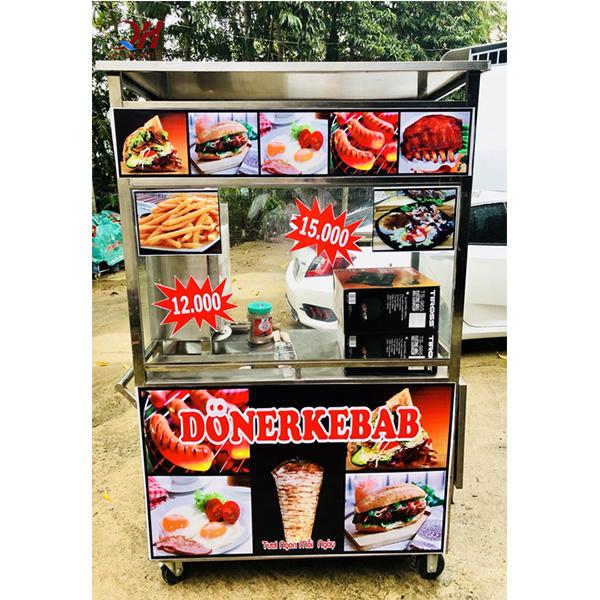 Xe bánh mì Doner Kebab 1m2 của Quang Huy