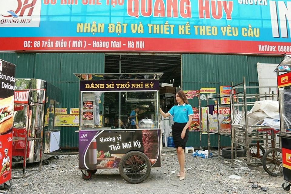 Quang Huy có dịch vụ thiết kế sản xuất xe bánh mì theo yêu cầu