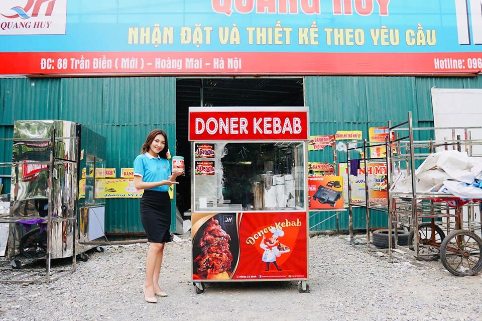 Xe bánh mì Doner Kebab chính hãng giá rẻ của Quang Huy