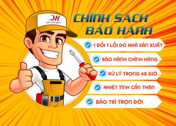 Quang Huy bảo hành uy tín và lâu dài