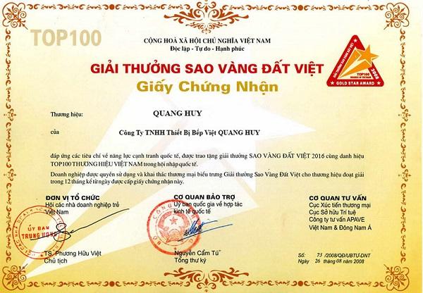 Quang Huy là 1 thương hiệu uy tín lâu năm