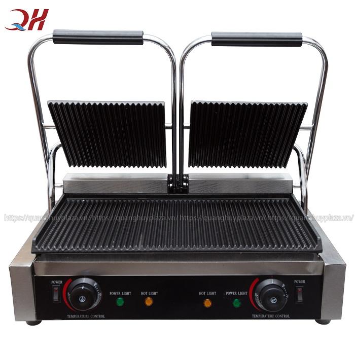Máy kẹp nướng bánh mì QH234 công suất lớn phục vụ cho kinh doanh vừa và lớn