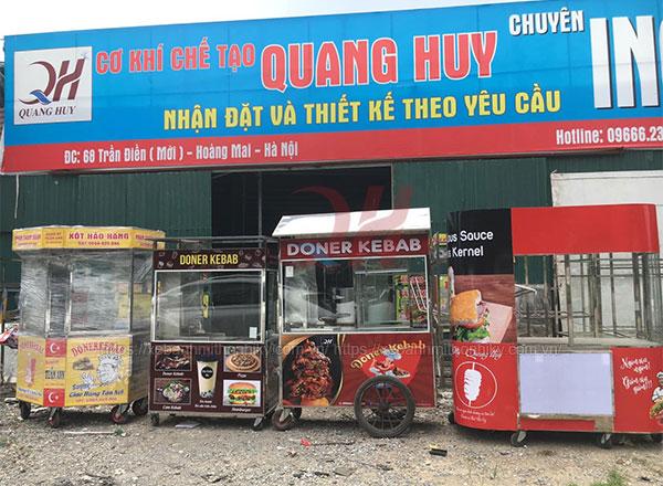 Tủ kính bán bánh mì Quang Huy