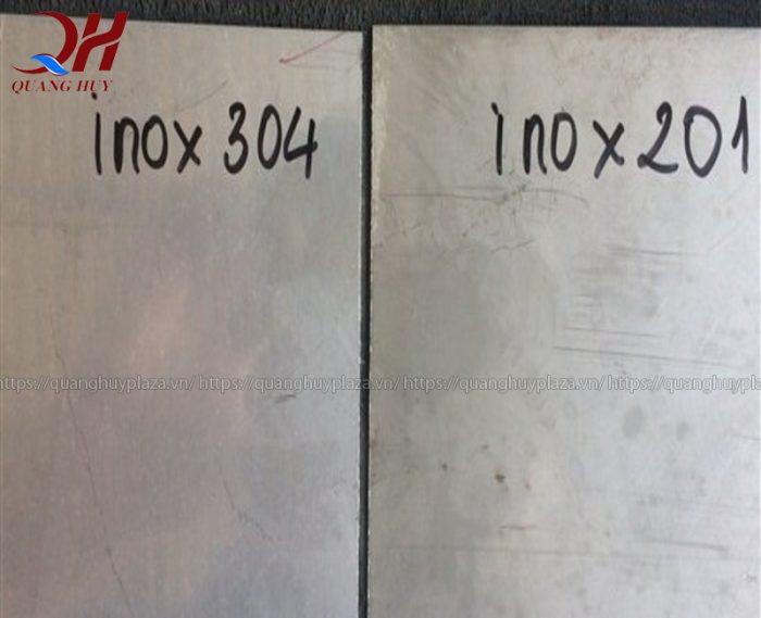 Chất liệu inox 304 độ bền tốt hơn inox 201
