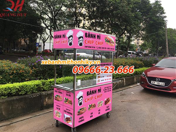 Xe bánh mì pate thiết kế theo yêu cầu của Quang Huy