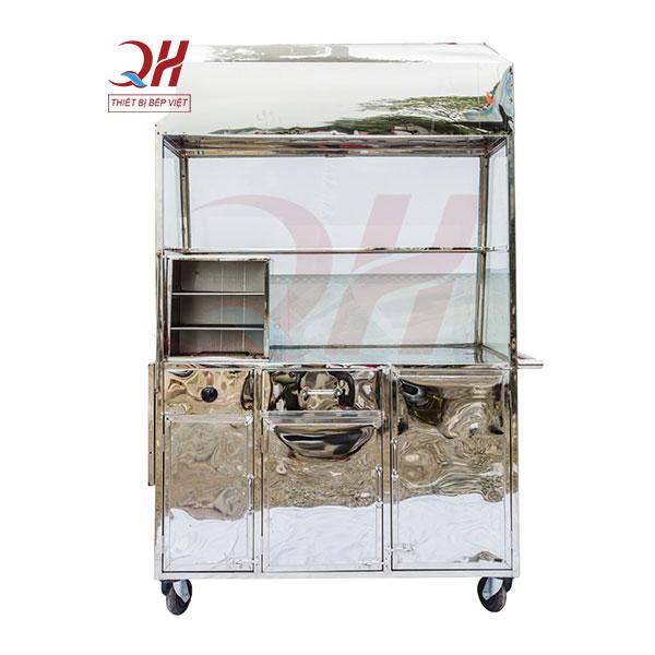 Xe bánh mì que của Quang Huy được làm từ Inox 304 cao cấp