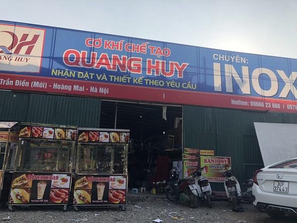 Địa chỉ bán máy làm nóng bánh mì - cơ khí chế tạo Quang Huy