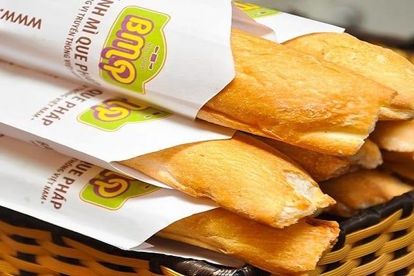 In túi giấy đựng bánh mì que đẹp, lịch sự