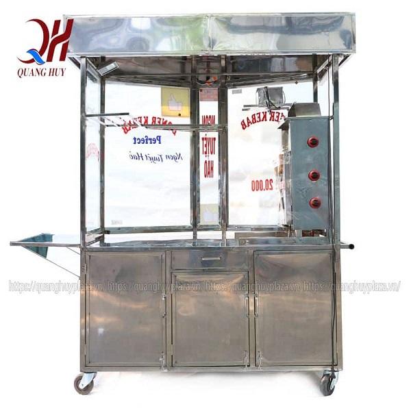 Xe bánh mì được làm từ inox 304 với bộ khung chắc chắn, sáng bóng