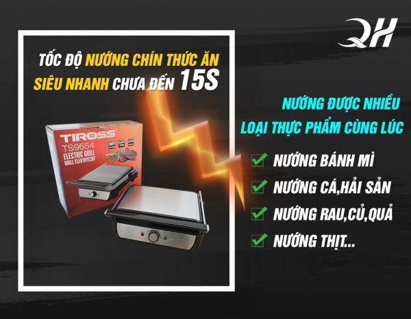 Quang Huy phân phối Máy ép bánh mì tiross 9654 chính hãng ưu đãi lớn
