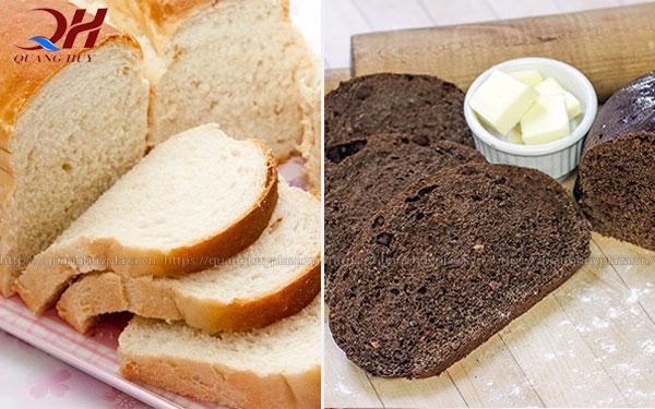 Sự khác biệt giữa bánh mì trắng và bánh mì đen