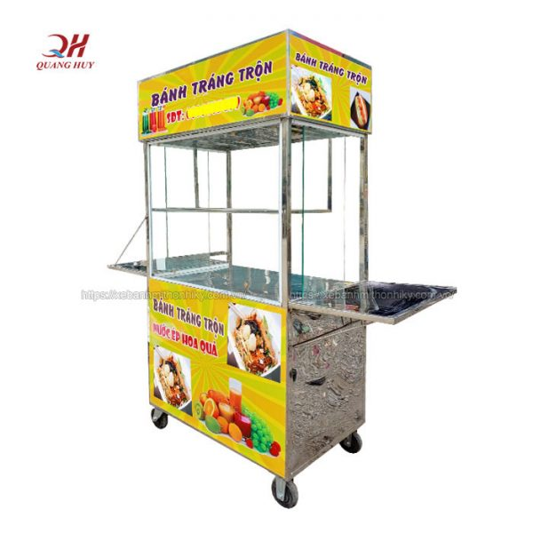 Xe bánh tráng trộn do Quang Huy sản xuất
