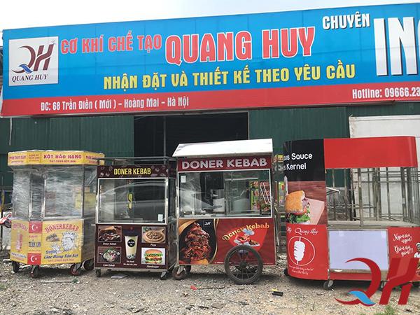Những mẫu xe đẩy bán hàng rong tại Quang Huy