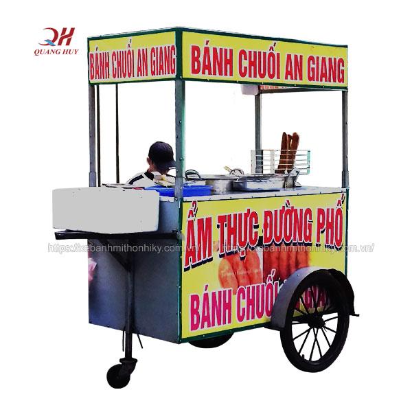 Xe đẩy bán bánh chuối An Giang do Quang Huy sản xuất
