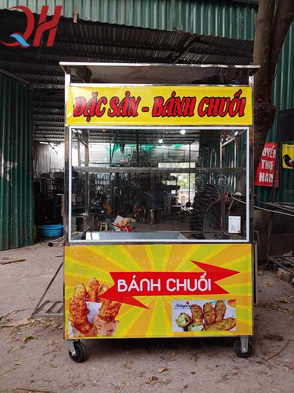 Xe đẩy bán bánh chuối do Quang Huy sản xuất và phân phối