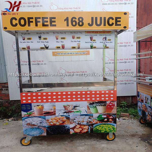 Xe bán cafe thiết kế đơn giản