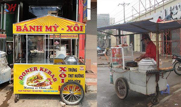 Sự khác biệt cực lớn giữa xe bán xôi bánh mì cũ và mới