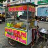 Xe đẩy bán bánh chuối