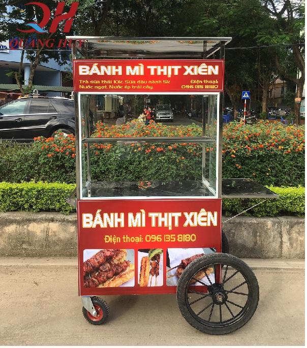 Xe đẩy bán bánh mì thịt nướng 1m giá siêu rẻ
