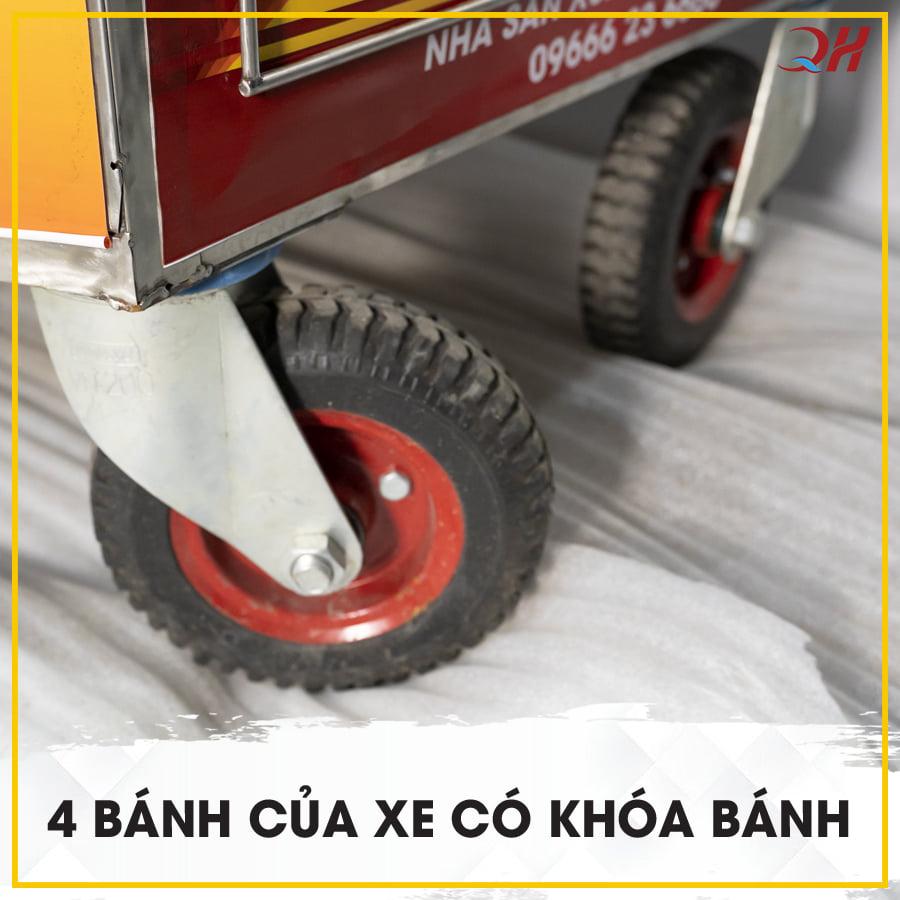 Mỗi bánh xe được thiết kế khóa bánh an toàn và chắc chắn