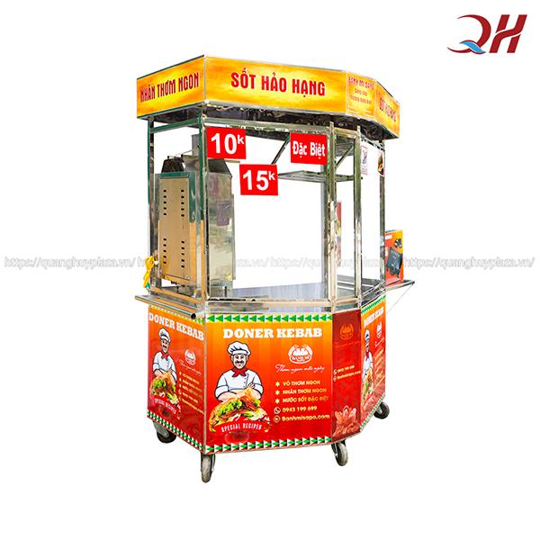 Xe bánh mì Doner kebab lục giác - mẫu mới tại Quang Huy