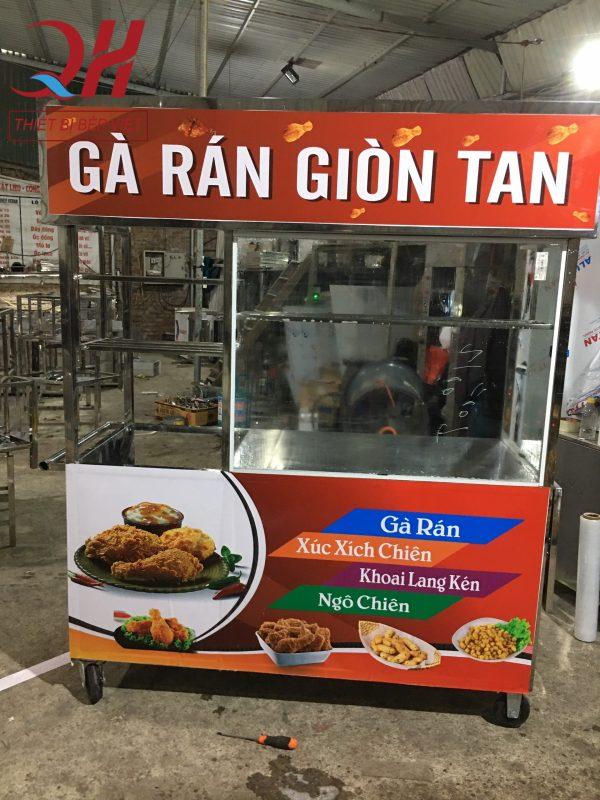 Xe bán gà rán chiên giòn sản xuất tại Quang Huy