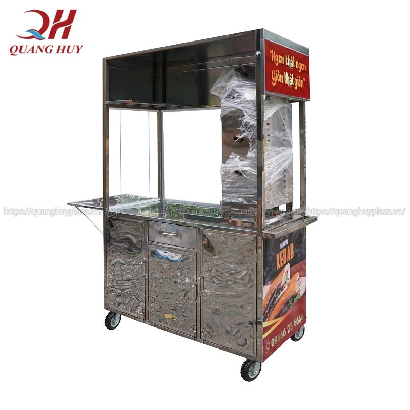 Xe bán gà rán Quang Huy được làm từ Inox 304 chất lượng cao