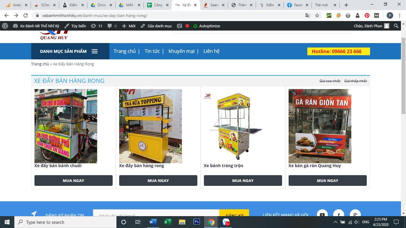 Bạn có thể đặt mua trực tiếp trên các website của Quang Huy cực kì đơn giản
