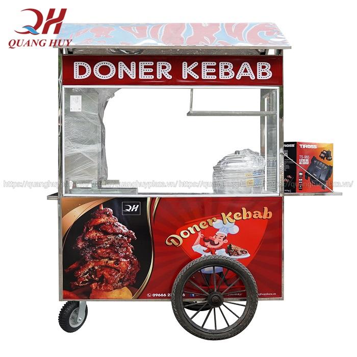 Trọn bộ xe bánh mì kebab kèm lò nướng giá rẻ gồm những gì?