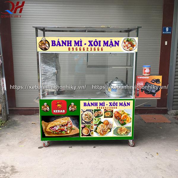 Xe bán xôi mặn sản xuất tại Quang Huy có kết cấu chắc chắn