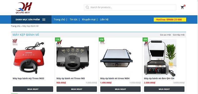 Hệ thống website của bếp Việt Quang Huy