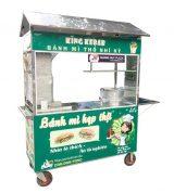 Xe bánh mì Doner Kebab mái chùa 1m6 mẫu mới
