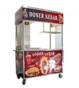 Xe bánh mì Doner Kebab mái bằng 1m3 mẫu mới