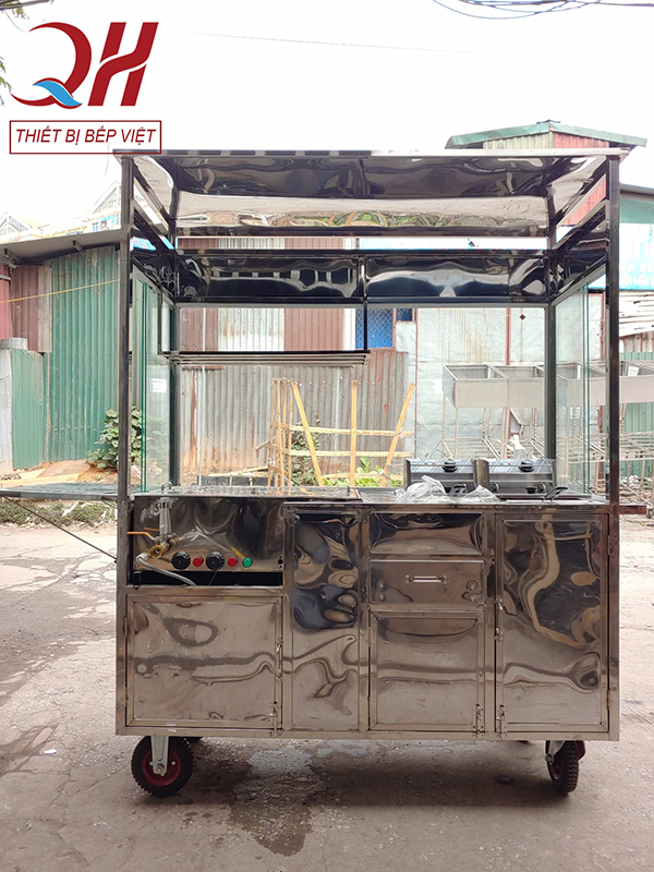 Xe bánh mì pate của Quang Huy được làm từ Inox 304 chất lượng cao
