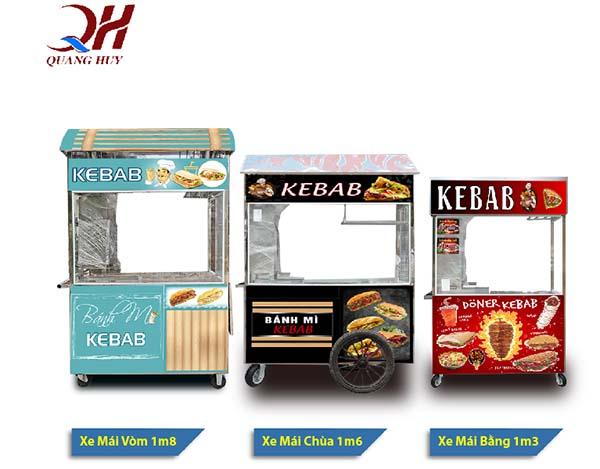Xe bánh mì Doner Kebab có rất nhiều mẫu mã kiểu dáng khác nhau