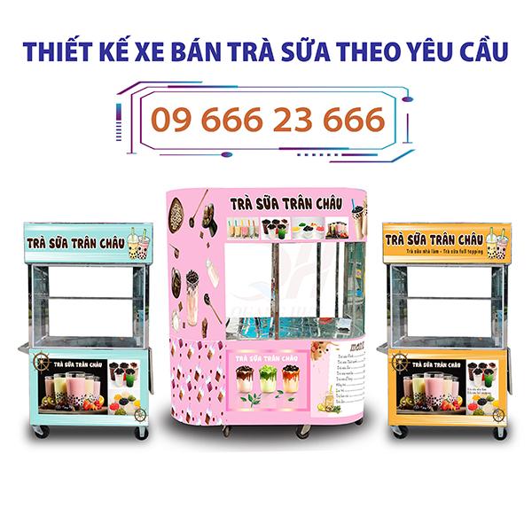 Quang Huy nhận đặt và thiết kế xe bán trà sữa theo yêu cầu uy tín giá rẻ