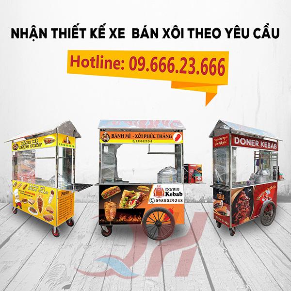 Quang Huy nhận đặt và thiết kế xe bán xôi theo yêu cầu
