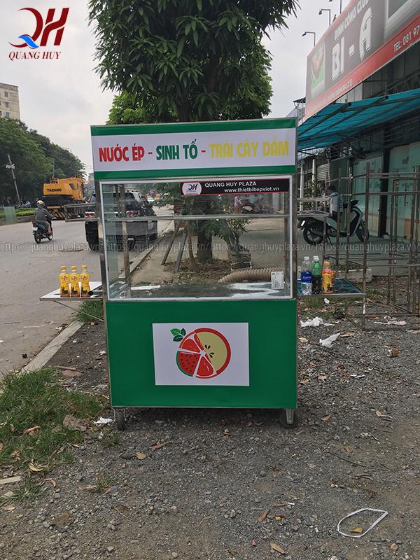 Xe đẩy nước ép trái cây Quang Huy