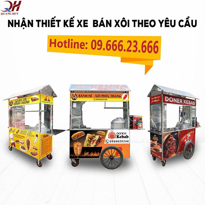 Quang Huy nhận đặt và thiết kế xe bán xôi theo yêu cầu uy tín giá rẻ