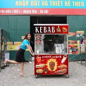 Xe bánh mì Doner Kebab mái bằng 1m3 giá rẻ