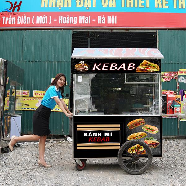 Xe bánh mì Doner Kebab mái chùa 1m6 mới nhất