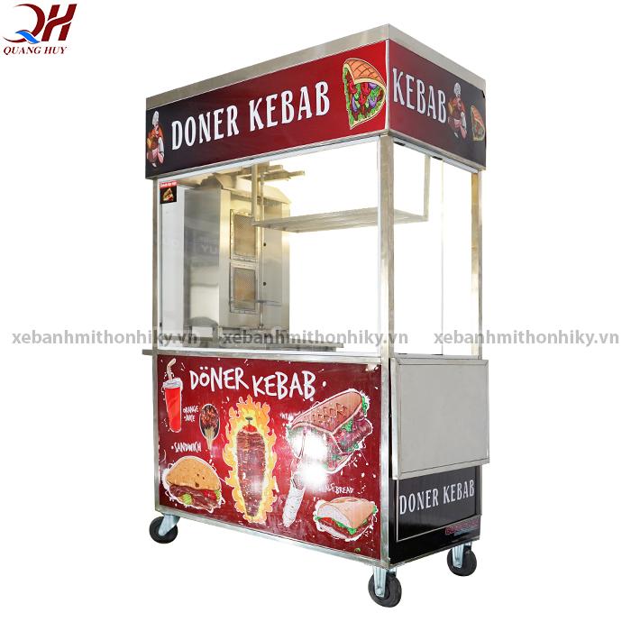 Xe bánh mì Doner Kebab 1m3 được thiết kế chắc chắn