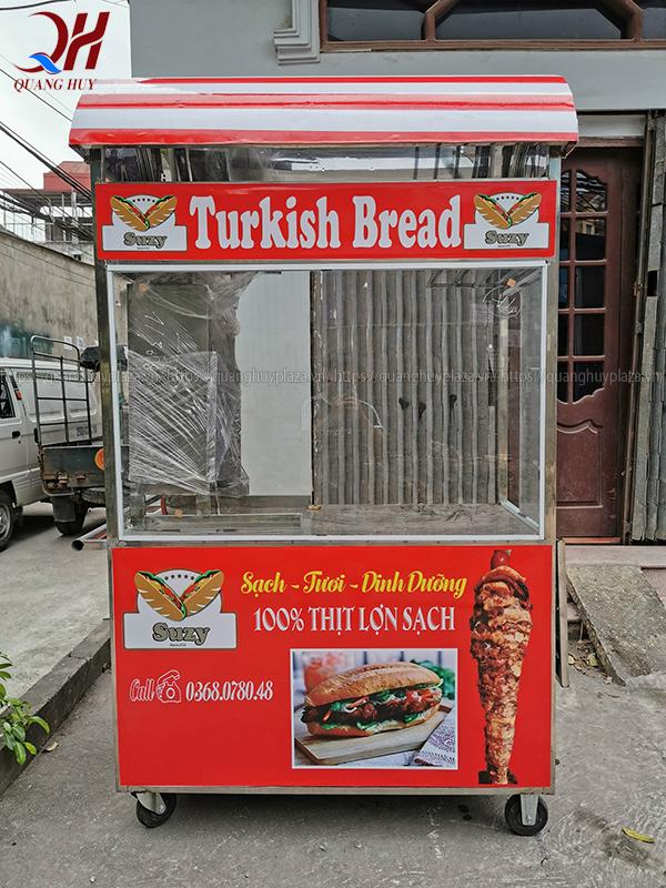 Xe bánh mì có mái che đẹp mắt