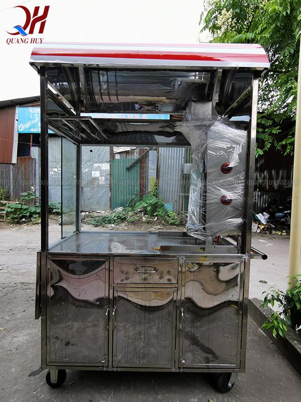 Xe bánh mì thổ nhĩ kỳ Quang Huy được bố trí lò nướng tiện lợi