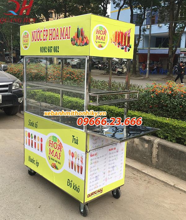 Với xe bán nước ép trái cây thì bạn có thể chủ động trong địa điểm bán hàng