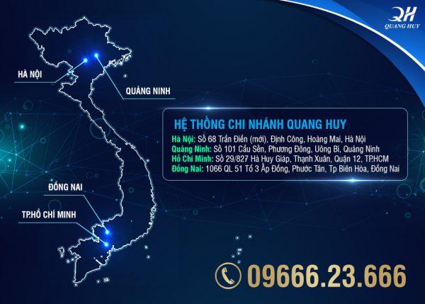 Hệ thống chi nhánh bán hàng của Quang Huy trên toàn quốc